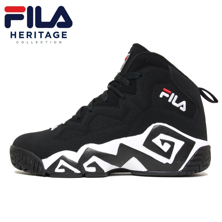 【スーパーSALE 10%OFFクーポン対象商品!】フィラ FILA スニーカー バッシュ バスケットシューズ メンズ レディース ブランド MB FHE102 BLACK ブラック 26.5cm 27cm 27.5cm 28cm