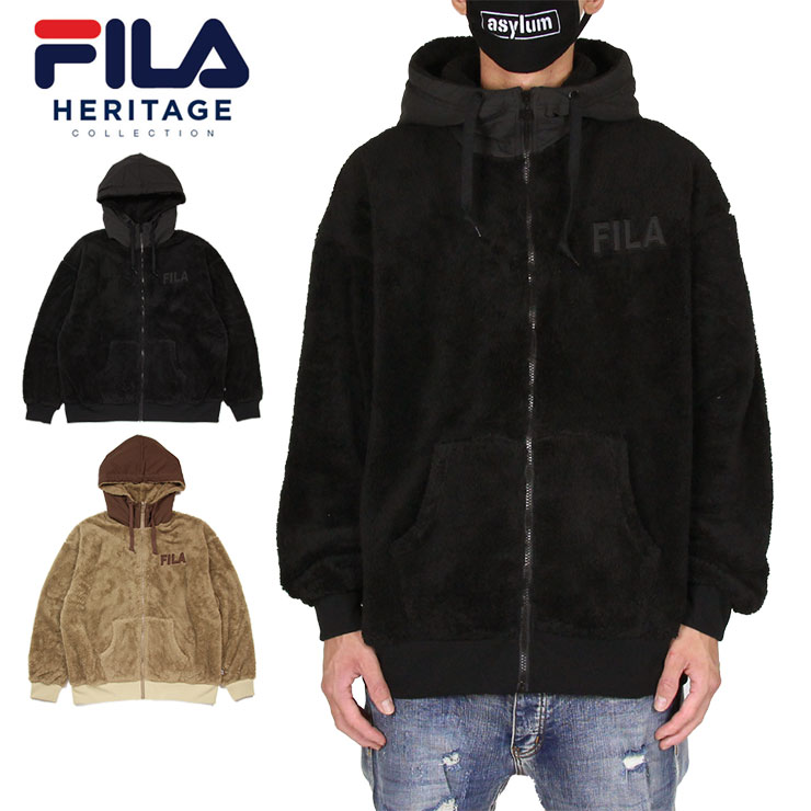 パーカー ジップアップパーカー FILA Heritage フィラヘリテージ 2020春夏新作 ジャケット フリース ボアジャケット アウター メンズ レディース 大きいサイズ M FS3089 人気 おしゃれ 返品交換不可 ブランド L XL おすすめ