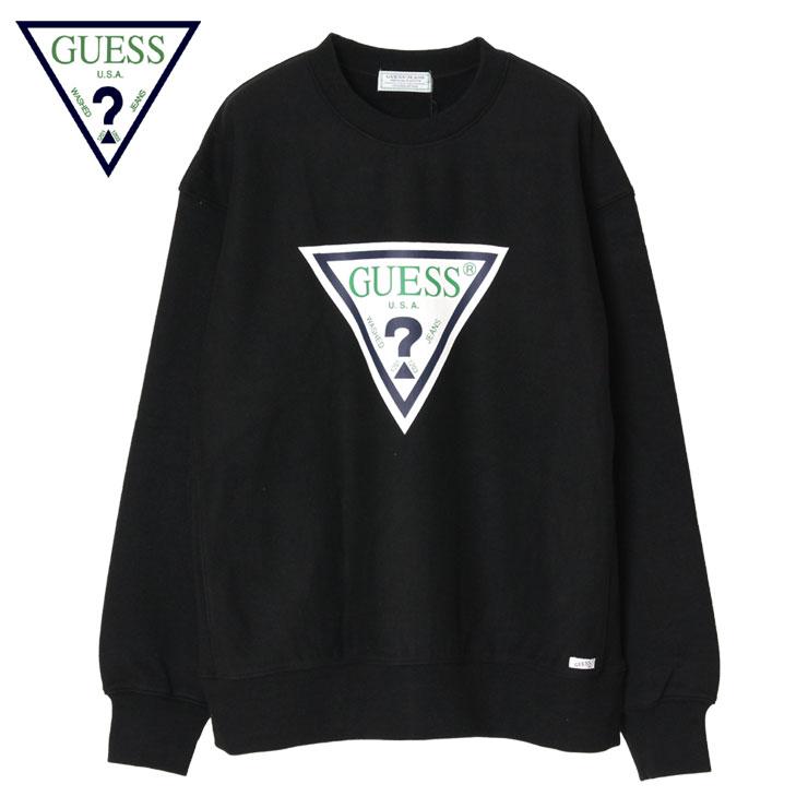 【スーパーSALE 10%OFFクーポン対象商品!】【SALE】ゲス グリーンレーベル トレーナー スウェット メンズ レディース ブランド 大きいサイズ おすすめ GUESS GREEN LABEL Triangle Logo Sweater GRFW17-003 かっこいい お洒落 ブラック S M L