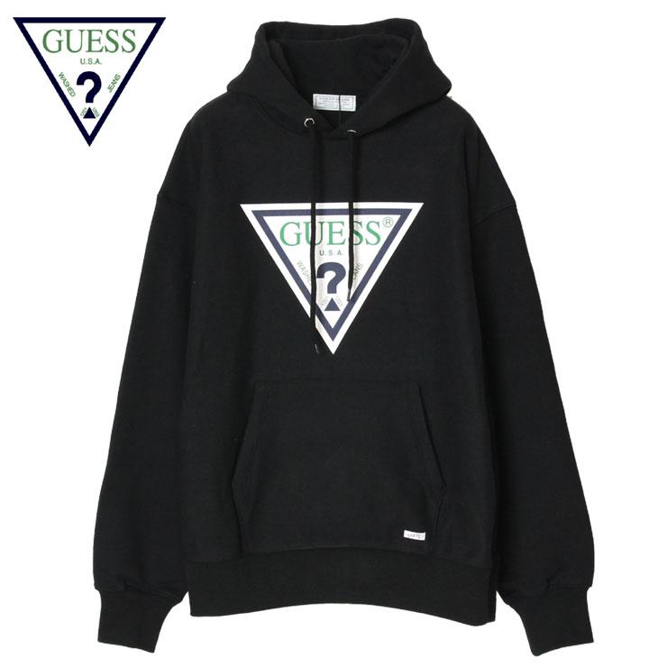 【スーパーSALE 10%OFFクーポン対象商品!】【SALE】ゲス グリーンレーベル パーカー メンズ レディース ブランド プルオーバーパーカー プルフーディー 大きいサイズ おすすめ GUESS GREEN LABEL Triangle Logo Hoodie GRFW17-004 かっこいい お洒落