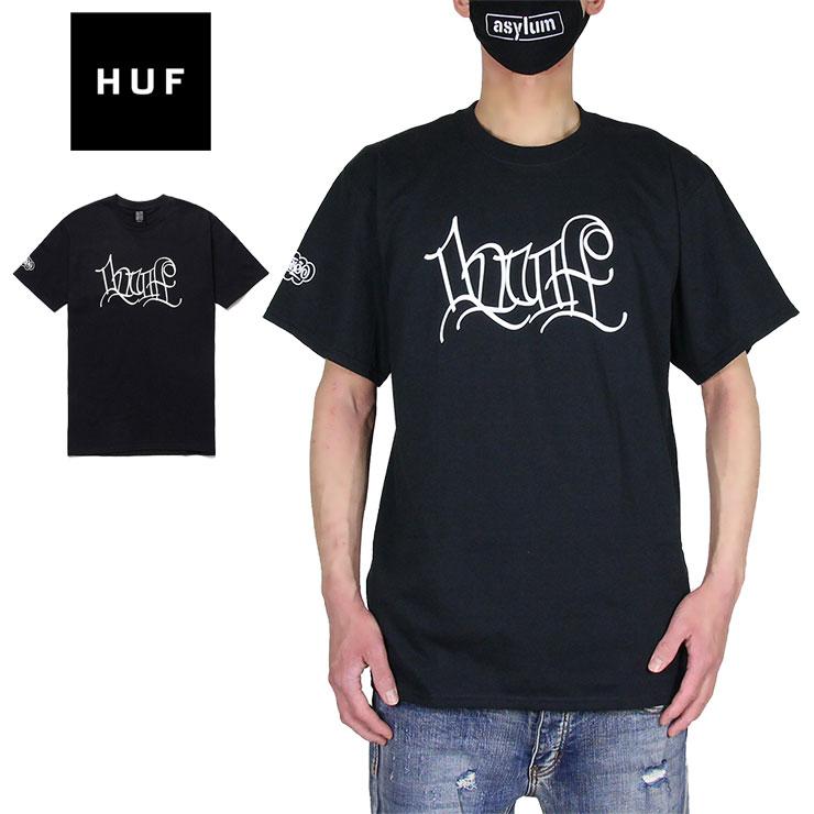 Tシャツ 半袖Tシャツ HUF ハフ かっこいい SALE10%OFF メンズ レディース ブランド 卸直営 大きいサイズ おしゃれ 黒 2 L ブラック おすすめ HANDSTYLE TEE TS01382 S 激安通販 HAZE M