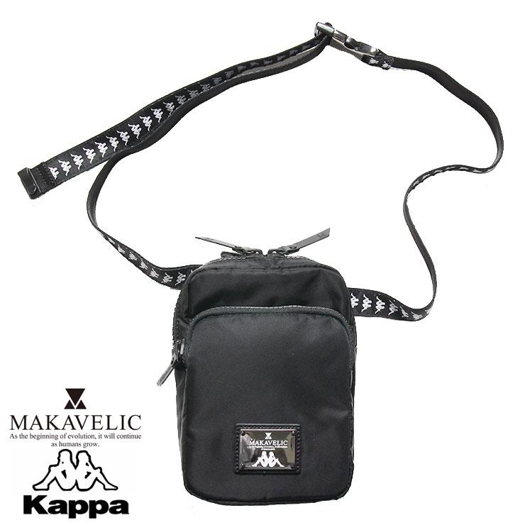 KAPPA BANDA カッパ バンダ×マキャベリック コラボ ショルダーポーチ MAKAVELIC×Kappa SHOUDER POUCH KL918BA04 メンズ レディース ブラック ONE SIZE
