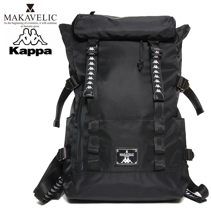 KAPPA BANDA カッパ バンダ×マキャベリック コラボ バックパック MAKAVELIC×Kappa DOUBLE BELT BACKPACK KL918BA02 メンズ レディース ブラック ONE SIZE