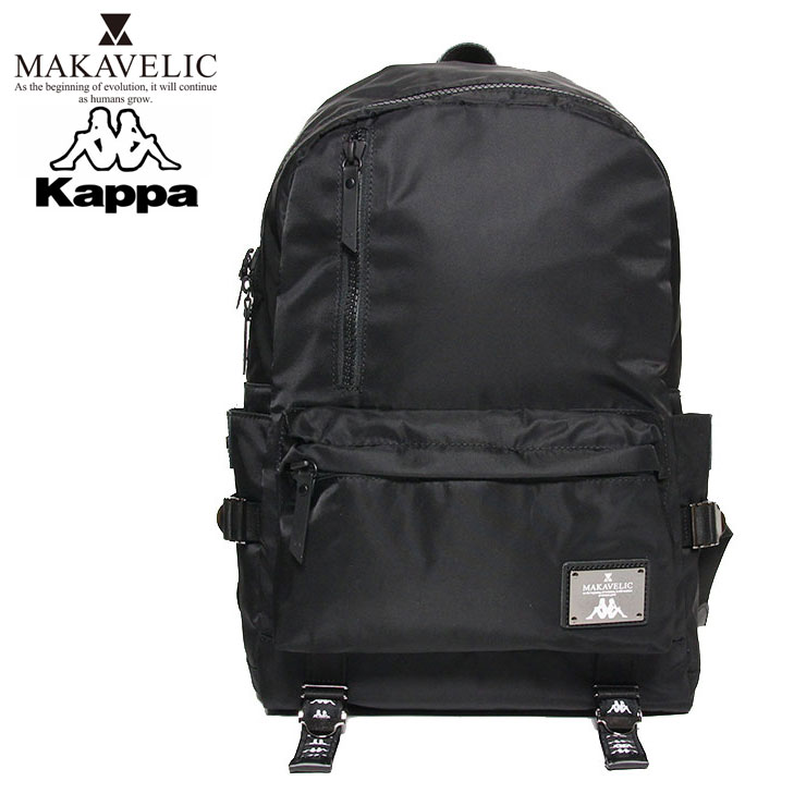KAPPA BANDA カッパ バンダ×マキャベリック コラボ バックパック MAKAVELIC×Kappa ROUND BACKPACK KL918BA01 メンズ レディース ブラック ONE SIZE