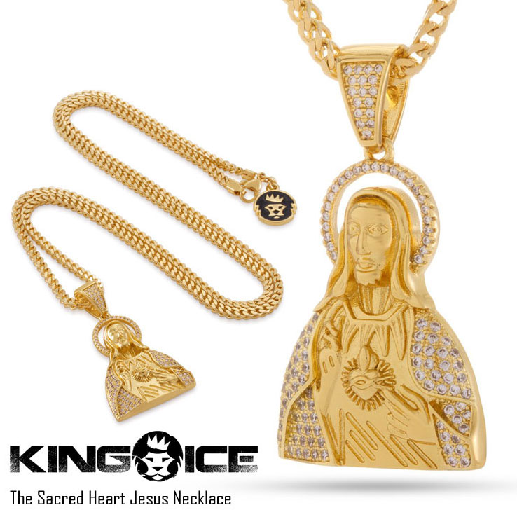 KING ICE キングアイス THE SACRED HEART JESUS NECKLACE メンズ レディース ネックレス ゴールド ONE SIZE