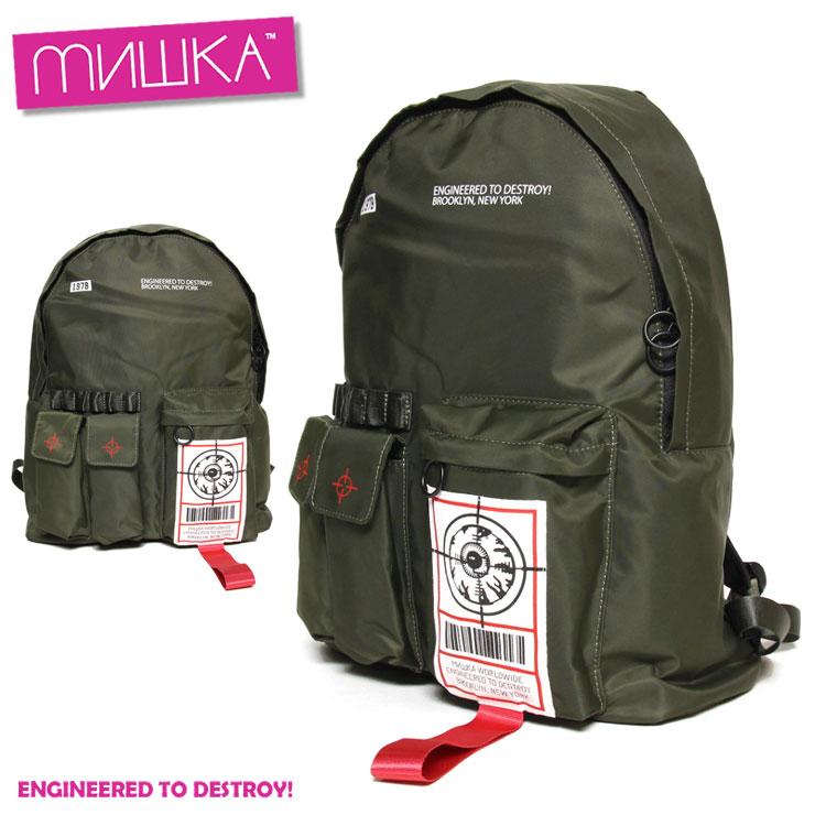 ミシカ MISHKA SOLDIER KEEP WATCH BACKPACK MAW183104 メンズ レディース 秋冬 ストリート ブラック バックパック FREE