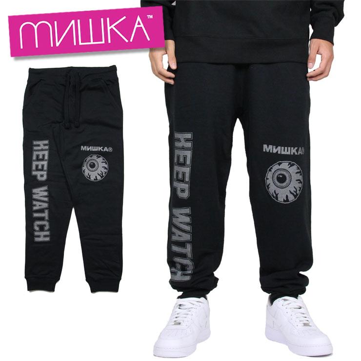 【スーパーSALE 10%OFFクーポン対象商品!】ミシカ MISHKA パンツ スウェットパンツ メンズ ブランド 大きいサイズ 3M K.W PANT 89064 ブラック M L XL XXL