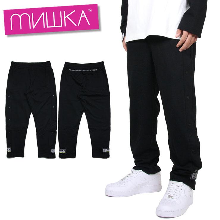 【スーパーSALE 10%OFFクーポン対象商品!】ミシカ MISHKA スウェットパンツ ジョガーパンツ メンズ ブランド 大きいサイズ PANT MAW200815 ブラック M L XL