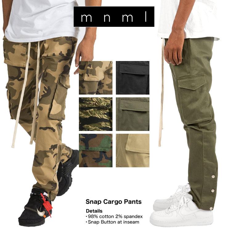 mnml ミニマル SNAP CARGO PANTS メンズ レディース 春夏秋冬 カーゴパンツ カモ ブラック オリーブ XS S M L XL