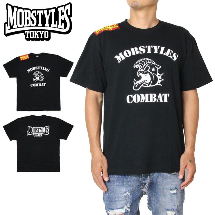 Tシャツ MOBSTYLES おしゃれ モブスタイルス MOB COMBAT TEE アウトレットセール 特集 BLACK スポーツ トレーニング M L S XL 格闘技 ブラック