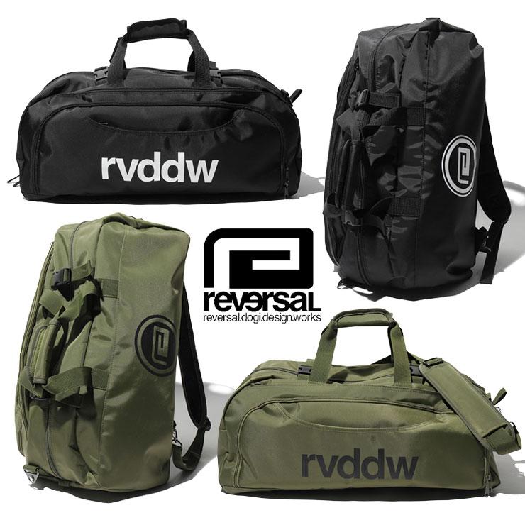 REVERSAL リバーサル 3WAYバック rvddw 3WAY BAG rv18SS049/メンズ/レディース/HIP HOP/ヒップホップ/ストリート系/メンズファッション/ブラック