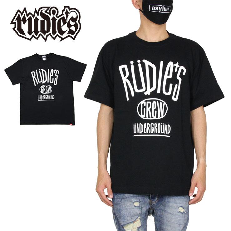 Tシャツ 半袖Tシャツ RUDIE'S ルーディーズ RUDIES ロゴ 綿100% メンズ レディース 通信販売 ブランド XL BLACK XXL S 84699 発売モデル M ブラック L 大きいサイズ DRAWING-T