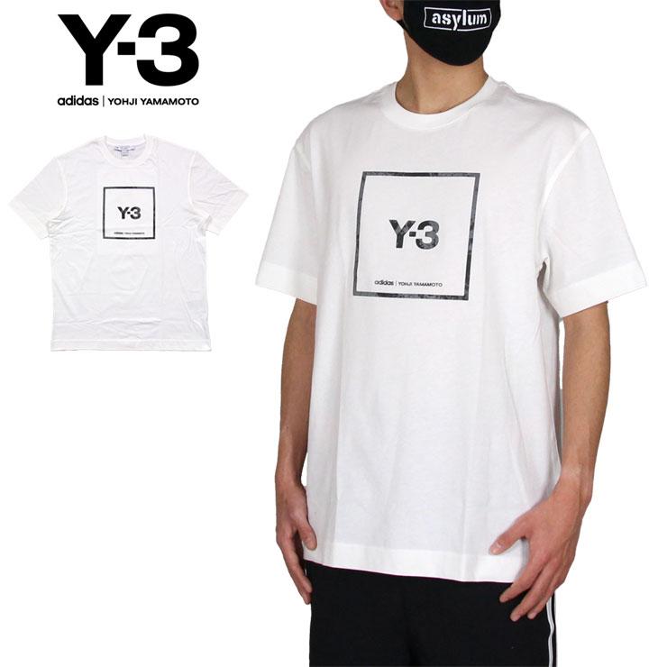 Tシャツ 半袖Tシャツ 特売 Y-3 ワイスリー かっこいい メンズ レディース ブランド 大きいサイズ Y3 ADIDAS YOHJI 日本正規代理店品 YAMAMOTO アディダス ヨウジヤマモト M LABEL L GV6061 ホワイト SS GRAPHIC おすすめ SQUARE 白 TEE U XL おしゃれ