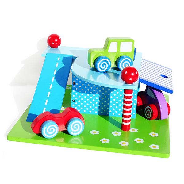 【JaBaDaBaDo/ジャバダバドゥ】ガレージ J-W7019 木製の知育おもちゃ【土曜営業】【日曜営業】