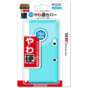TPU YAWA KATA Cover for Nintendo 3DS Clear Blue HORI
