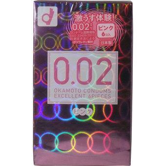 【送料無料】オカモト ゼロゼロツーエクセレント 薄さ均一 002EX ピンク 6個入り ( コンドーム・避妊具 ) ×144点セット まとめ買い特価!ケース販売 ( 4547691721303 )