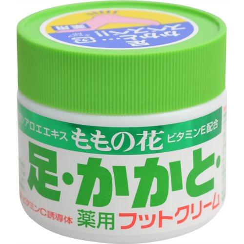 アロエエキス、ビタミンE、ビタミンC誘導体配合のフットクリームです。ひび・あかぎれ・肌あれなどからお肌を守ります 【令和・早い者勝ちセール】オリヂナル ももの花薬用フットクリーム 70g 医薬部外品 ( 4901180010321 )
