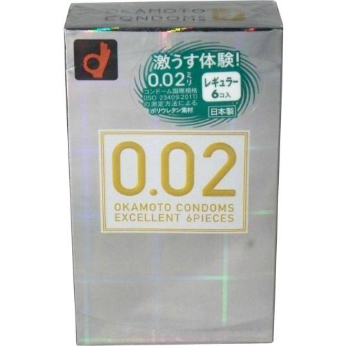 【送料無料】オカモト 薄さ均一 002EX ナチュラル 6個入り ( コンドーム・避妊具 ) ×144点セット まとめ買い特価!ケース販売 ( 4547691710499 )
