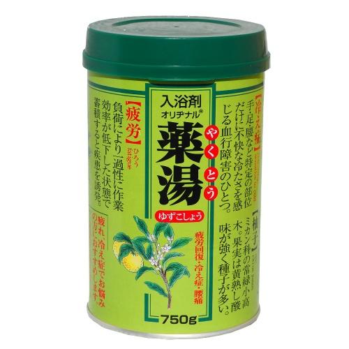 【送料無料・まとめ買い×12個セット】オリヂナル 薬湯 ゆずこしょう 750g(4901180020900)