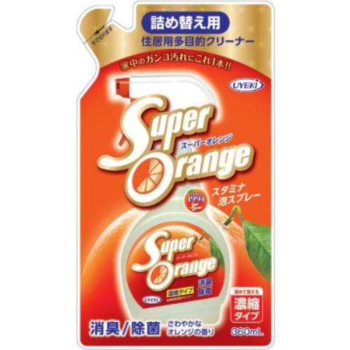 【送料無料・まとめ買い×24個セット】UYEKI スーパーオレンジ 消臭 除菌 泡タイプN 詰替 360ml