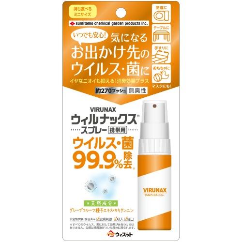 【送料無料・まとめ買い×32個セット】ウィルナックス スプレー携帯用 25ml