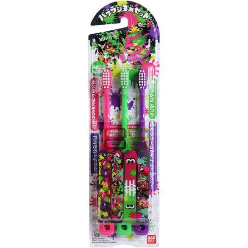 【送料無料・まとめ買い×60個セット】バンダイ スプラトゥーン2 子ども歯ブラシ 3本セット
