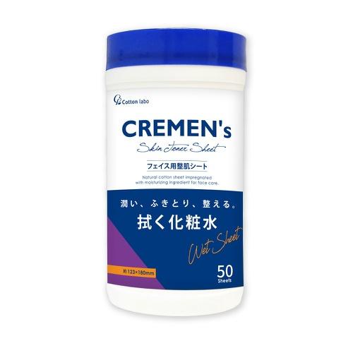 潤い、ふきとり、整える。拭く化粧水/4973202302127/ 【送料込・まとめ買い×30個セット】コットンラボ CREMEN's クレメンズ スキン トナーシート フェイス用 製肌シート 50枚入