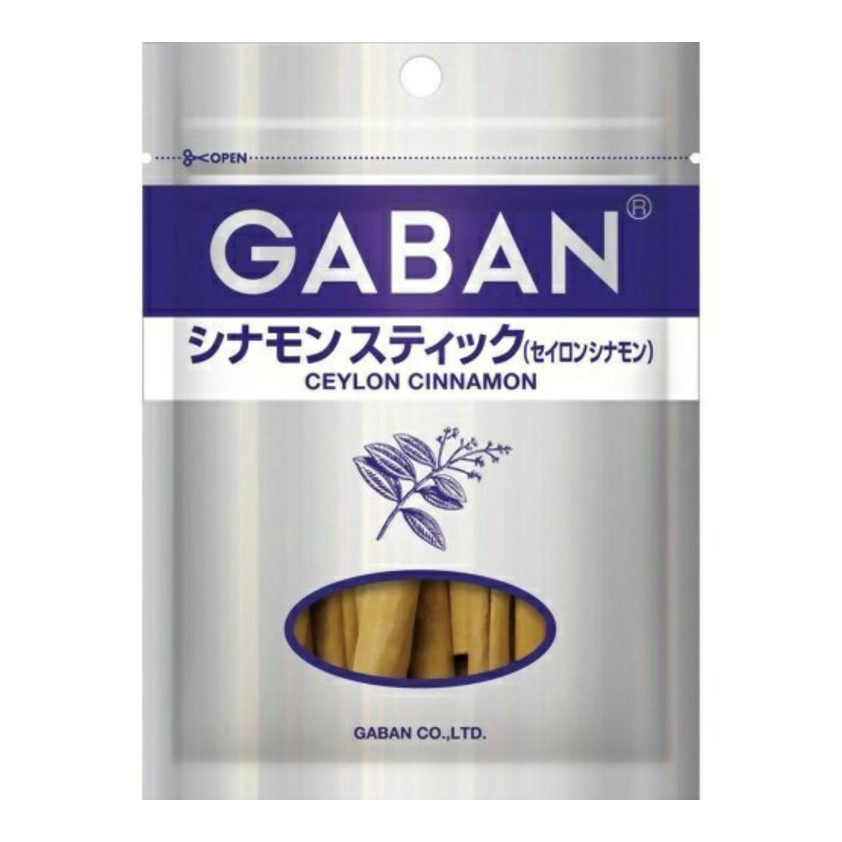 【送料込・まとめ買い×80個セット】ハウス食品 GABAN ギャバン シナモン スティック セイロンシナモン 袋(15g)