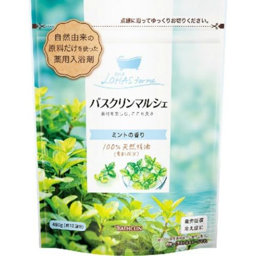 自然由来の原料だけを使った入浴剤 4548514061781 令和 早い者勝ちセール マルシェ 480g 公式ストア ショップ バスクリン ミントの香り
