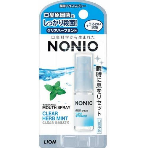 【送料込・まとめ買い×72個セット】ライオン NONIO ノニオ 薬用 マウススプレー クリアハーブミント 5ml