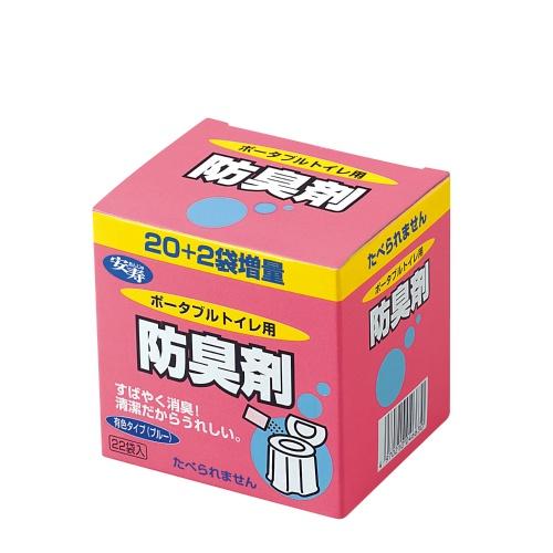 取り扱いやすい粉末状タイプ 4970210046630 予約 送料込 まとめ買い×10個セット アロン化成 22袋入 おトク ポータブルトイレ用防臭剤22