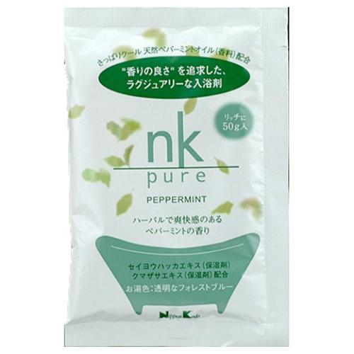 【送料込・まとめ買い×144個セット】日本香堂 nk pure 入浴剤 ペパーミント 50g