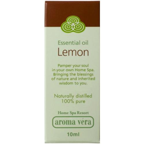 【まとめ買い×6個セット】日本香堂 アロマベラ エッセンシャルオイル レモン 10ml