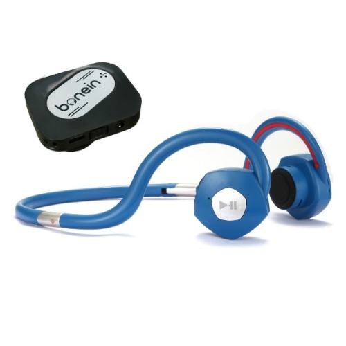 【送料込】ボーンインbonein ダークブルー ワイヤレス骨伝導ヘッドホン+集音送信機 BN-702T 1個入