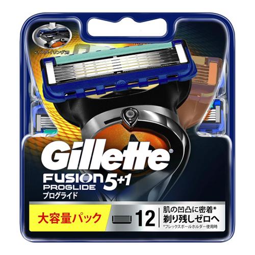 【送料込・まとめ買い×10個セット】P&G ジレット プログライド FUSION5+1 替刃 大容量 12個入×1パック