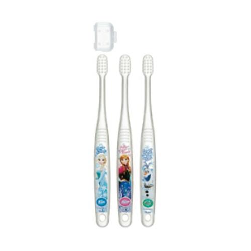 【送料込・まとめ買い×144個セット】スケーター クリア歯ブラシ 3本 アナと雪の女王