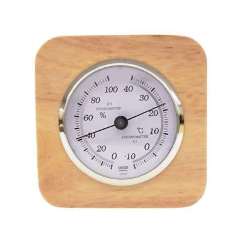 【送料込・まとめ買い×40個セット】CRECER 天然木温湿度計 CR-620