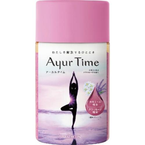 わたしを解放するひととき 幸せに包まれる時間 限定タイムセール 入浴剤 4548514154568 アーユルタイム カモミールクラリセージの香り 720g 本物 バスクリン