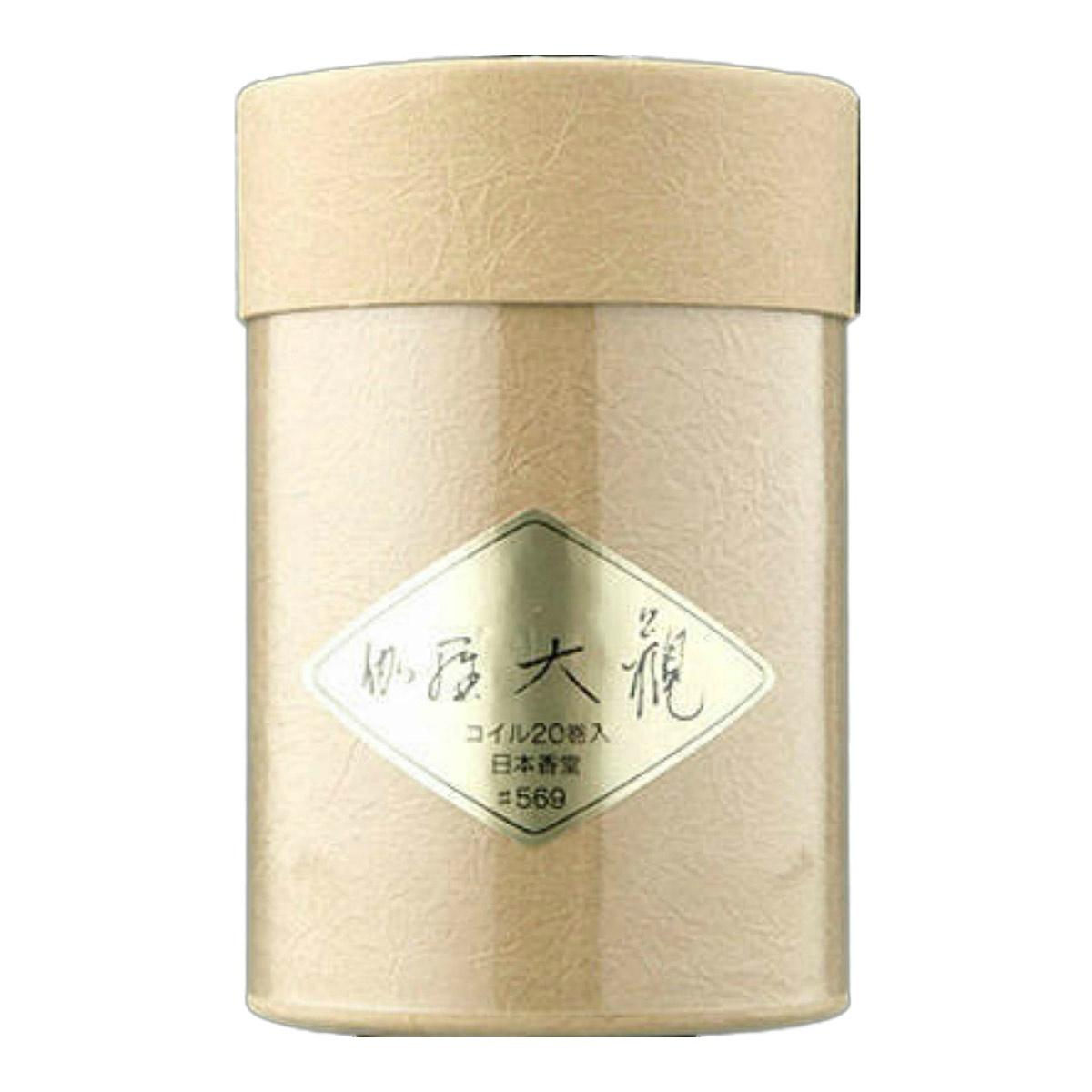 至上の宝 とされた香木 伽羅の深遠な香り 最安値 香りの王者が誇る幽玄の香り 4902125569003 送料込 伽羅大観 お香 20巻入 コイル 日本香堂 まとめ買い×10個セット 予約販売
