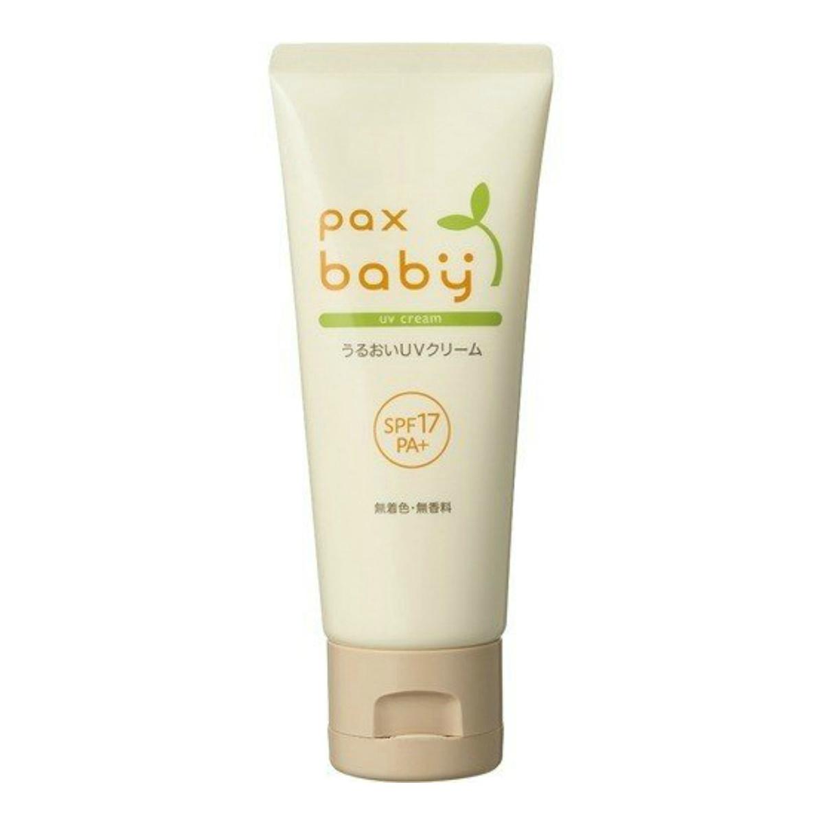 100%自然由来成分の肌にやさしいUVクリーム 日焼け止めクリーム 4904735057635  太陽油脂 パックス ベビー うるおい UVクリーム 40g