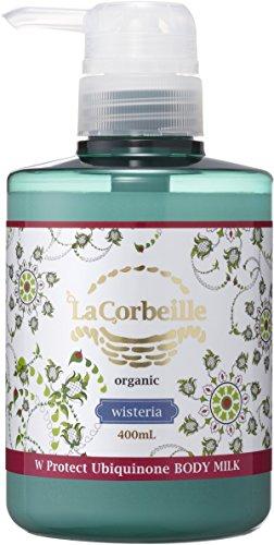 【送料無料・まとめ買い×018】井関産業 La Corbeille ラ コルベイユ  W プロテクト A ボディミルク ウィステリアの香り 400ml 本体×018点セット(4582426011106)