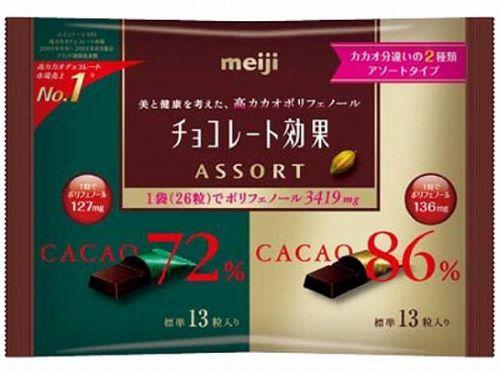메이지 초콜릿 효과 아소 트 자루 × 18 개 세트 (사탕 초콜렛) (4902777068015)