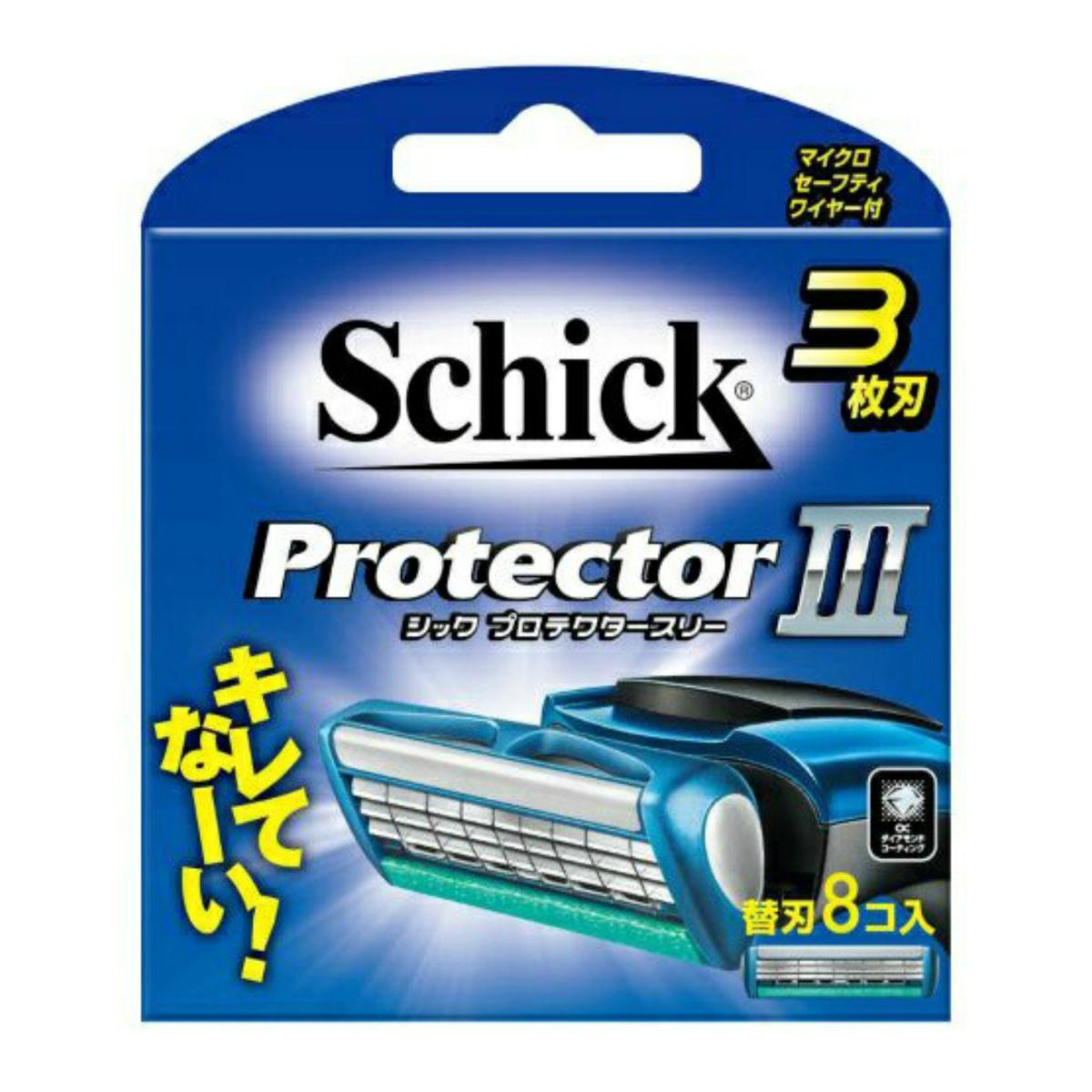 マイクロセーフティワイヤー付3枚刃 シック プロテクタースリー 4891228303846 替刃 8コ入 人気商品 人気ブランド