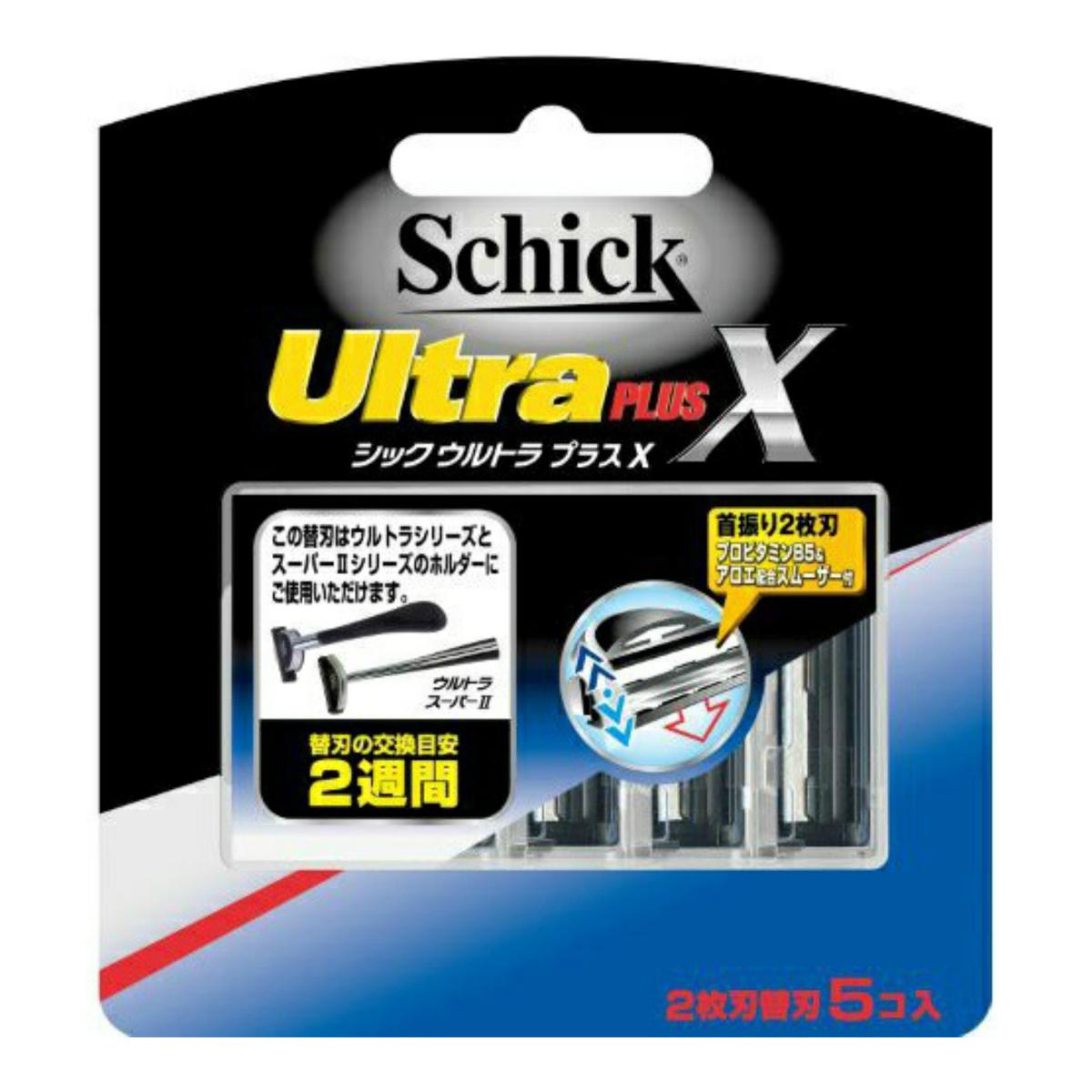 【送料無料・まとめ買い×288】シック Schick ウルトラプラスX 替刃 5コ入×288点セット(4891228303860)