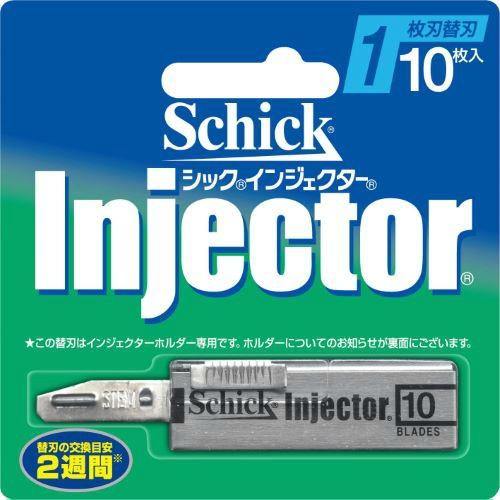 【送料無料・まとめ買い×288】シック Schick インジェクター 替刃 10枚入 ×288点セット(4891228303921)