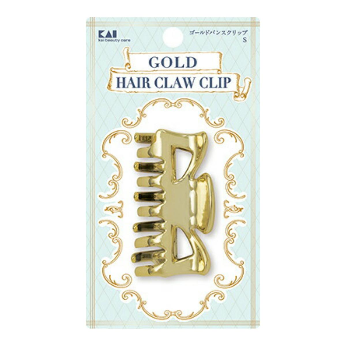 【ケース販売 送料無料】 HA3079 ゴールドバンスクリップ S ヘアアクセサリー×240個セット (4901601300918)