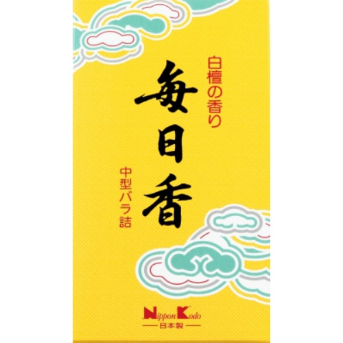 【送料込・まとめ買い×050】日本香堂 毎日香 中型 バラ 150g ×050点セット(4902125108028)