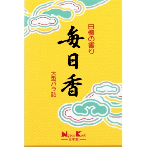【送料無料・まとめ買い×40】日本香堂 毎日香 大型バラ詰 240g×40点セット(仏具用品 線香)(4902125108035)