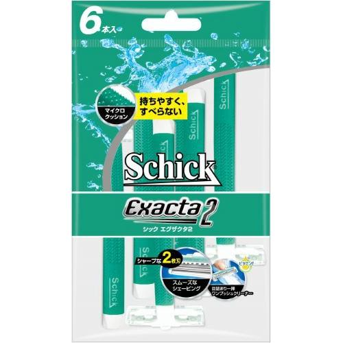 シック Schick アイテム勢ぞろい エグザクタ2 6本入り 2枚刃 蔵 4903601637964 まとめ買い×10 送料無料 ×10点セット エグザクタ2