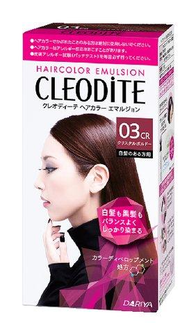 【送料無料・まとめ買い×027】クレオディーテ ヘアカラーエマルジョン 白髪のある方用  03CR クリスタルボルドー 1個 ×027点セット(4904651182954)